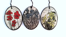 Floral Ornaments in Sgraffito