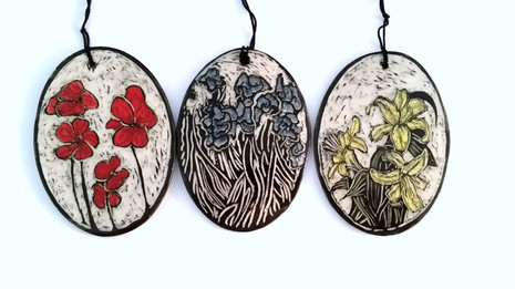 Floral Ornaments in Sgraffito