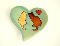 Kitty Heart Dish