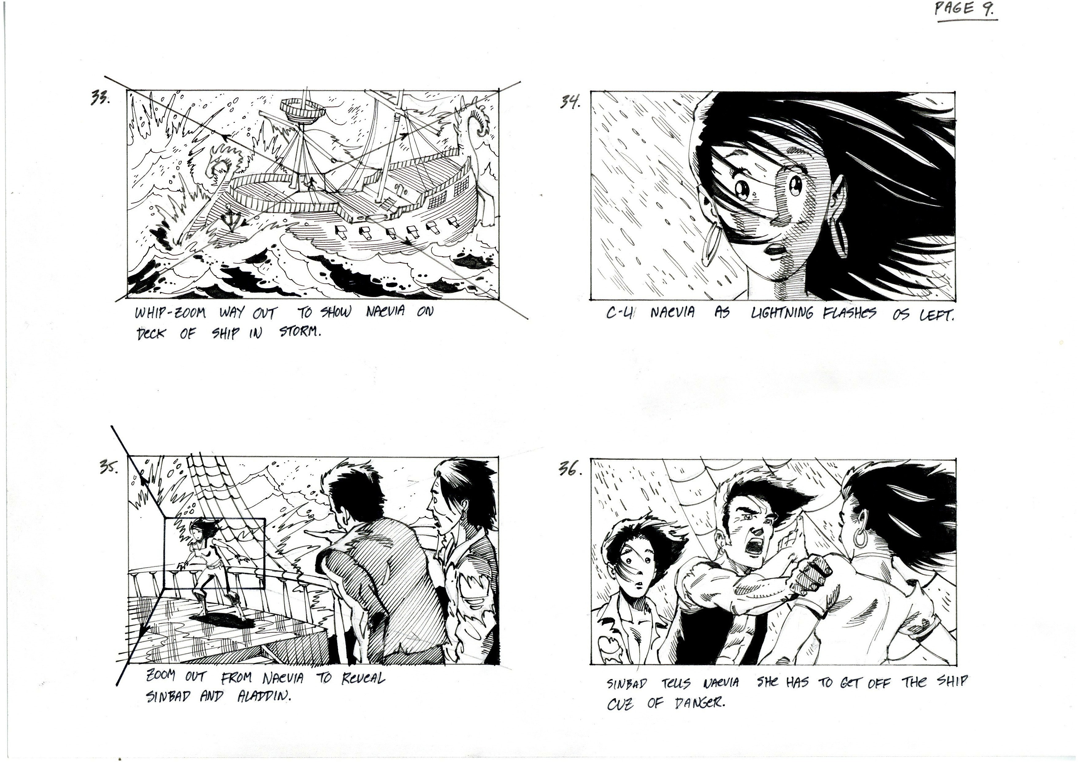 Prentis RollinsillustrationNew York and London – Storyboard Sample