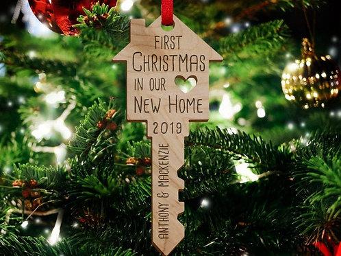 First Christmas Key Ornament