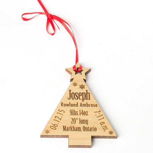 Christmas Tree Baby Ornament