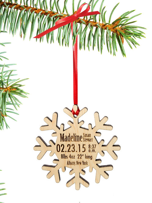 Snowflake Baby Ornament