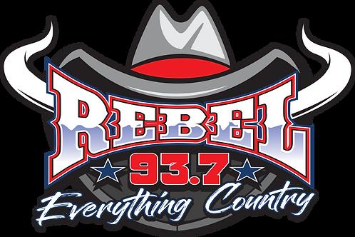 Rebel 93.7 Decal