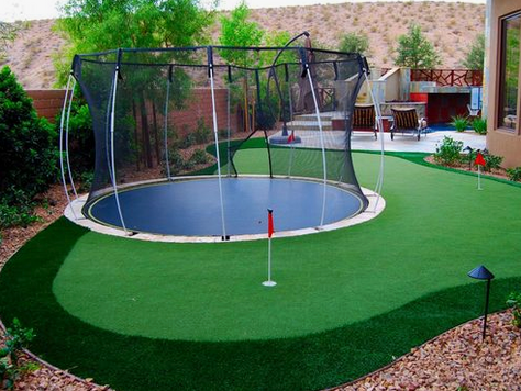 Amazing back garden golf set-ups