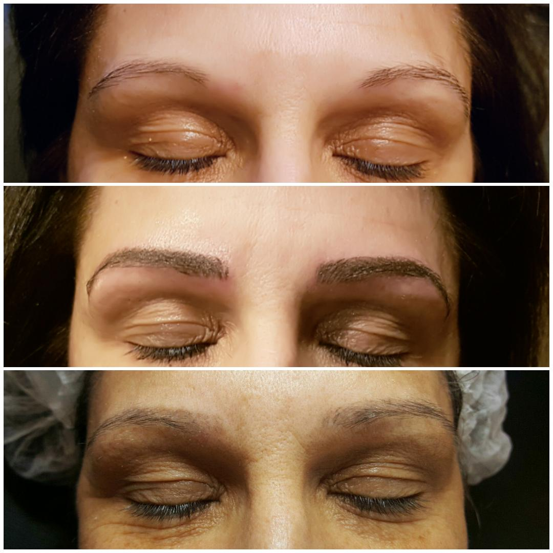 restructuration + microblading