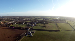 Drone image of Caerwent