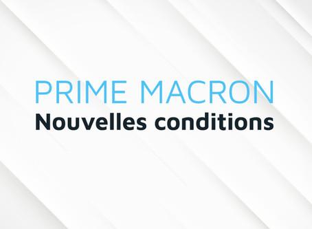 Prime MACRON : nouvelles conditions