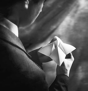 Conférence entreprise originale - homme - origami