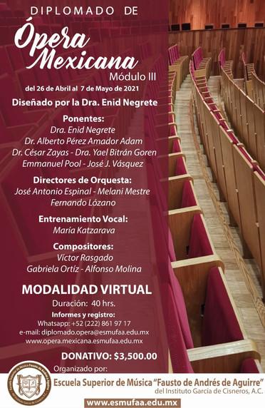 Diplomado de Ópera Mexicana
