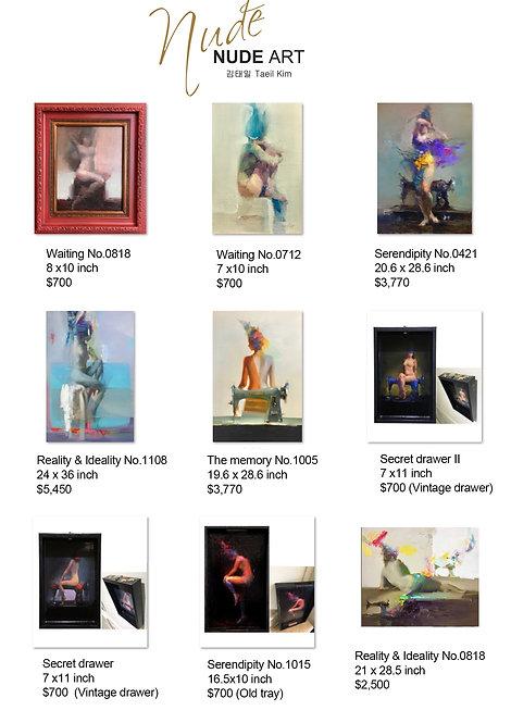 Nude art 전시작품 가격안내