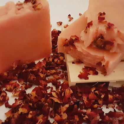 Handmade Organic Rose spell soap bars