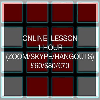 1 Hour Online Lesson