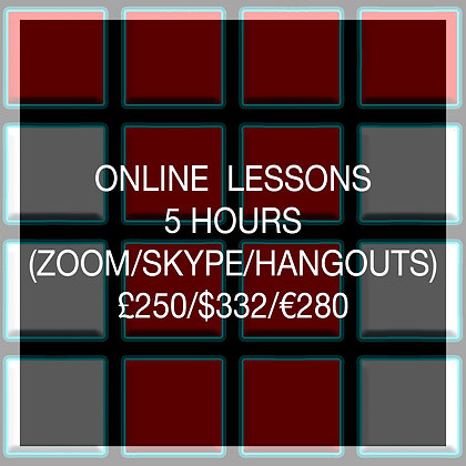 5 Hour Online Lesson (SAVE £50)