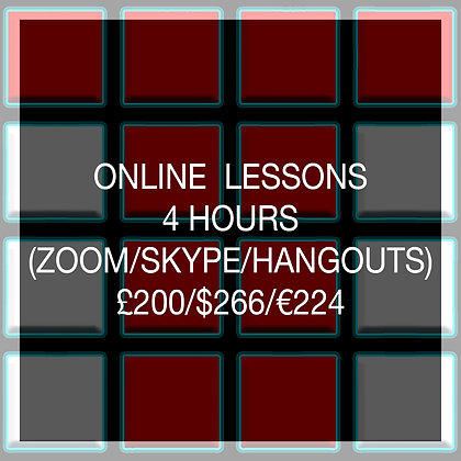 4 Hour Online Lesson (SAVE £40)