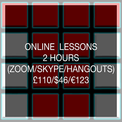 2 Hour Online Lesson (SAVE £10)