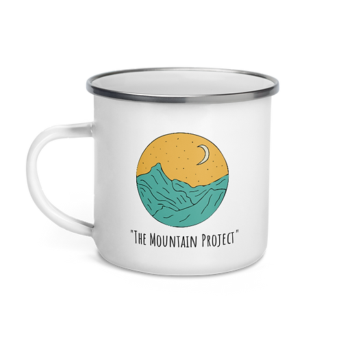 The Mountain Project Enamel Mug