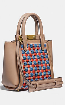 COACH Troupe Tote 16 With Weaving Style # 618 -Small