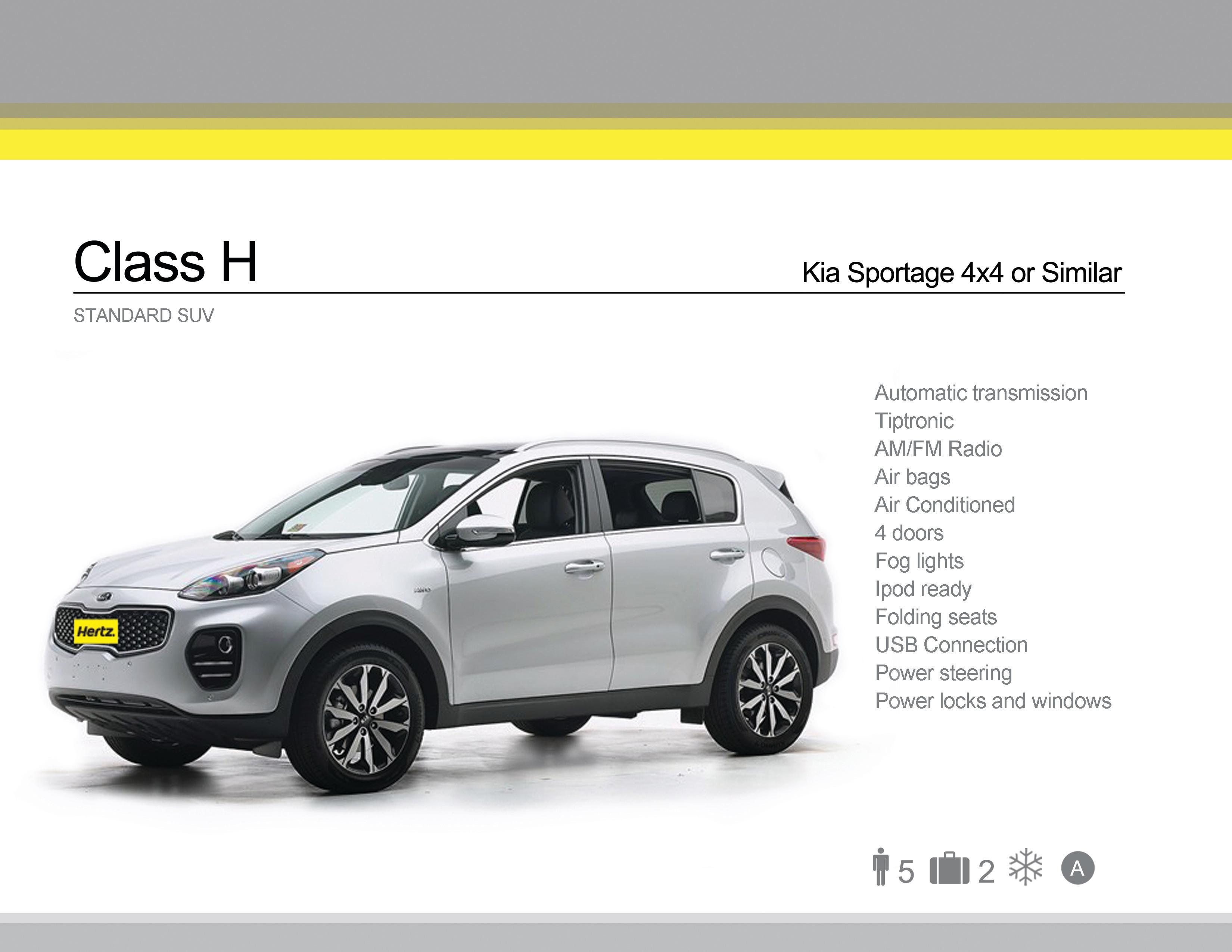 Class H - Kia Sportage or Similar