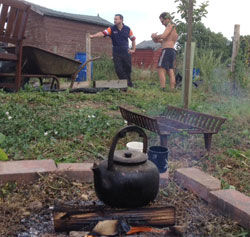 Time For A Brew on the Allotments