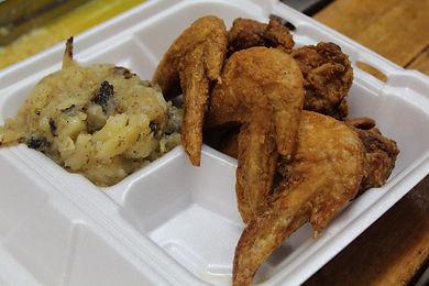 Fried Chicken Wings Plate