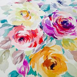 Always the roses #floralprint #flowerpainting #roses #textiledesigner #watercolour