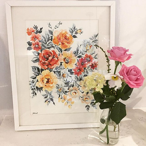 Original Rose Painting