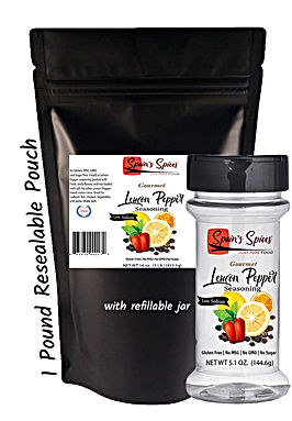 Spain's Spices Lemon Pepper 1 lb. Pouch