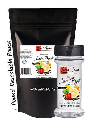 1 lb. Lemon Pepper Seasoning (Includes empty refillable jar)