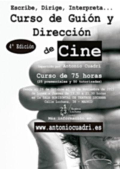 Cartel Curso Madrid