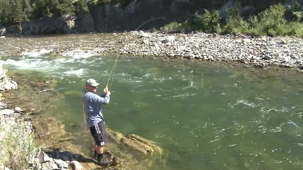 Fishing with Ladin Fly fishing TV Show - Fish on!