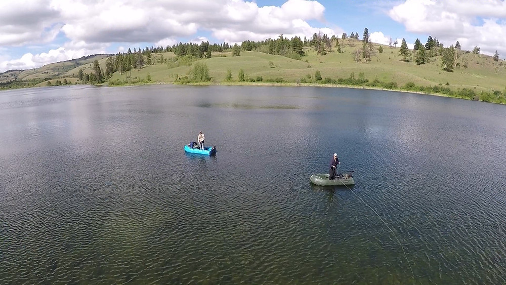 We are fly fishing from our Dogfish boats which work very well for standing and casting to cruising fish