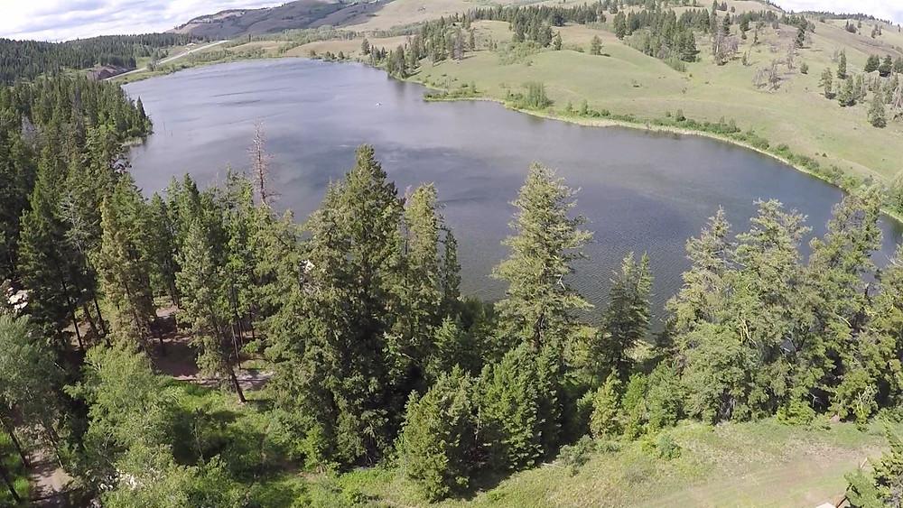 Corbett Lake British Columbia from a drone.