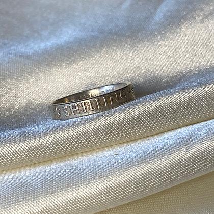 1954 Australian Shilling Coin Ring