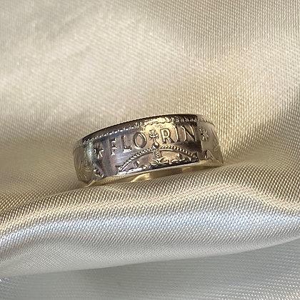 1944 Australian Florin Coin Ring