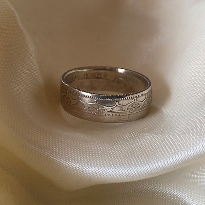 1890 Newfoundland 20 Cent Coin Ring