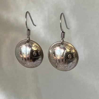 1961 Australian Threepence Earrings
