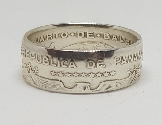Panama Quarter Balboa Coin Ring