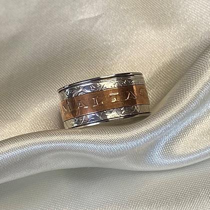 Triple Spinner Coin Ring