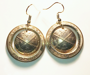 Earrings made from coins
