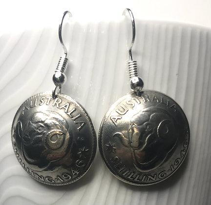 Australian Shilling Earrings
