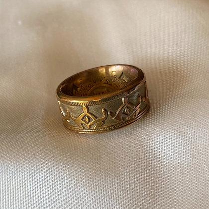 Newfoundland 50 Cent Replica Coin Ring