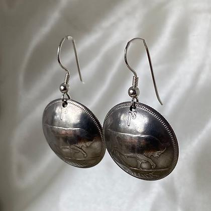 1928 and 1931 Irish Shilling Earrings