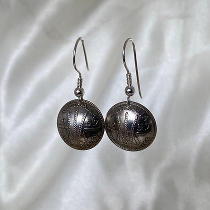 1957 Australian Threepence Earrings