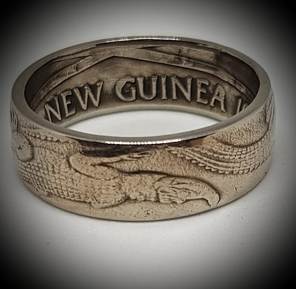 Papua New Guinea One Kina Coin Ring