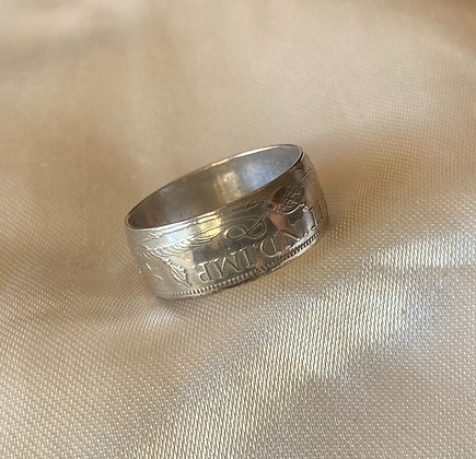 1945 Papua New Guinea Shilling Coin Ring