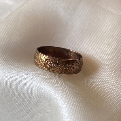 1945 Indian One Pice Coin Ring