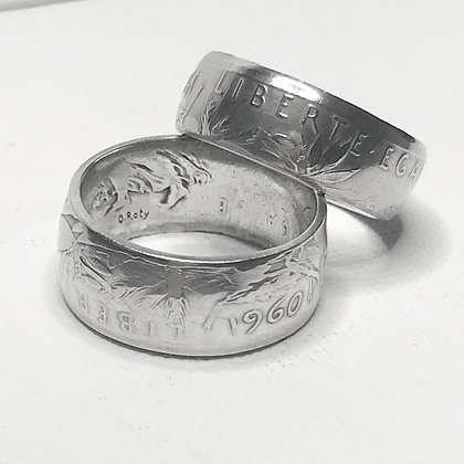 French Five Francs Coin Ring