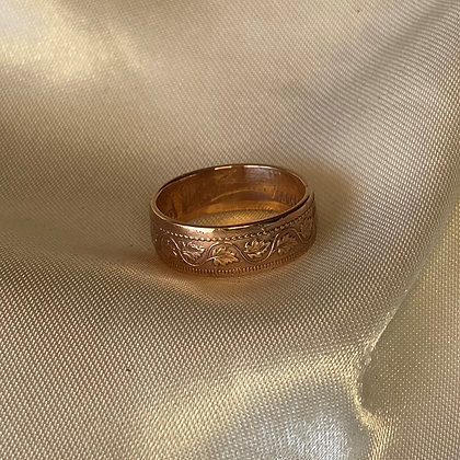 1918 Canadian 1 Cent Coin Ring