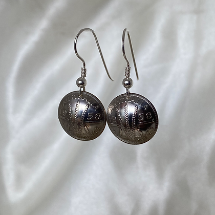 1958 Australian Threepence Earrings